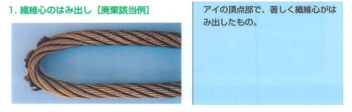 玉掛ワイヤーロープの点検廃棄基準